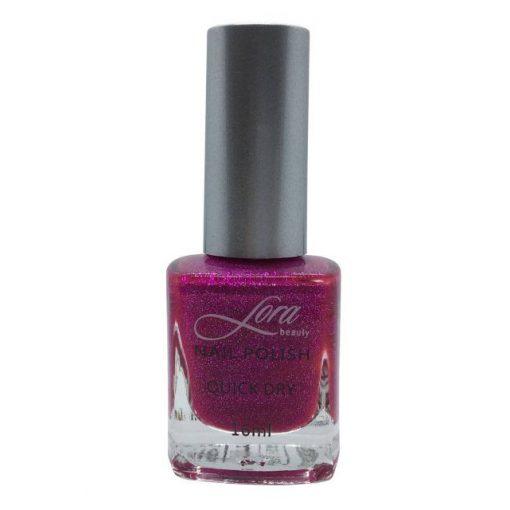 Csillogós-pink Lora Beauty körömlakk (16 ml)