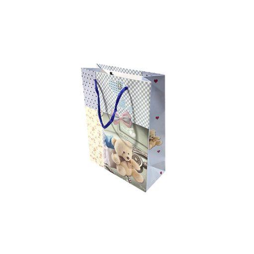 Mini ajándéktasak, macis, kék