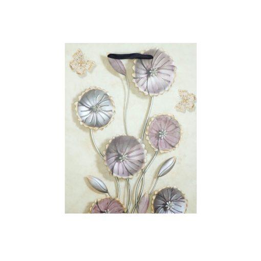Közepes ajándéktasak, virágos, lila