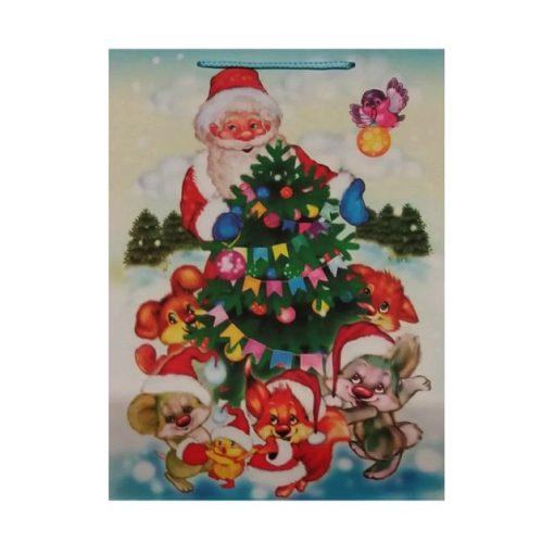 Ajándéktasak karácsonyi 31*41*12 állatos