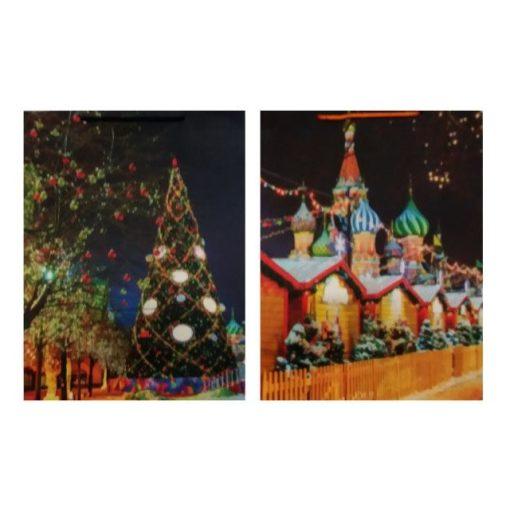Ajándéktasak karácsonyi 31*41*12 épület