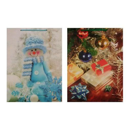 Ajándéktasak karácsonyi 31*41*12 hóember/ajándék
