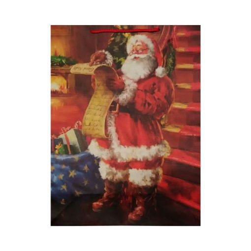 Olvasó télapós karácsonyi ajándéktasak, nagy