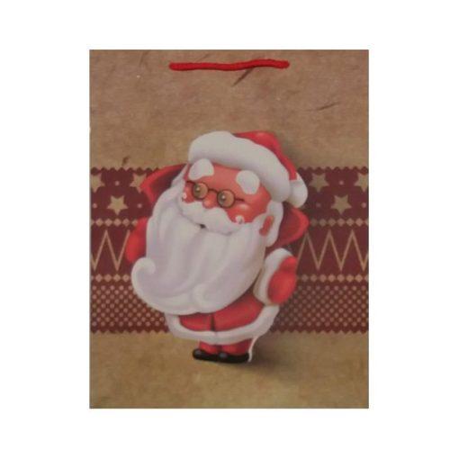 Ajándéktasak karácsonyi 25*32*10 mini télapó
