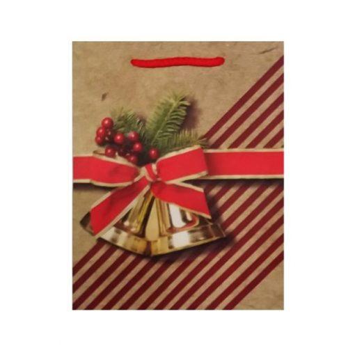 Ajándéktasak karácsonyi 18*23*8 harang