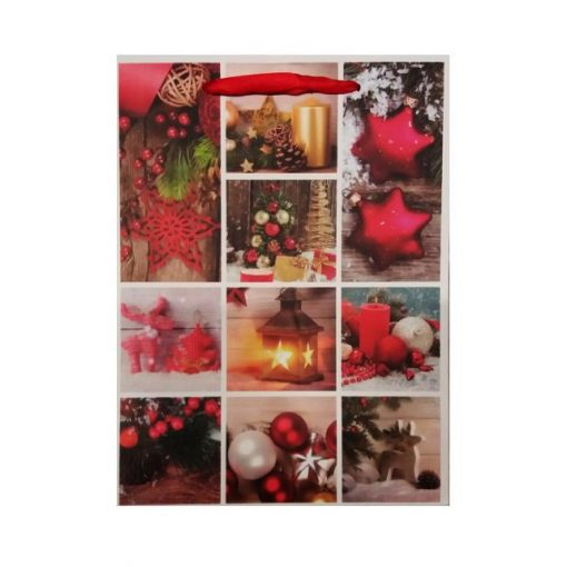 Ajándéktasak karácsonyi 18*24*8.5 sok képes