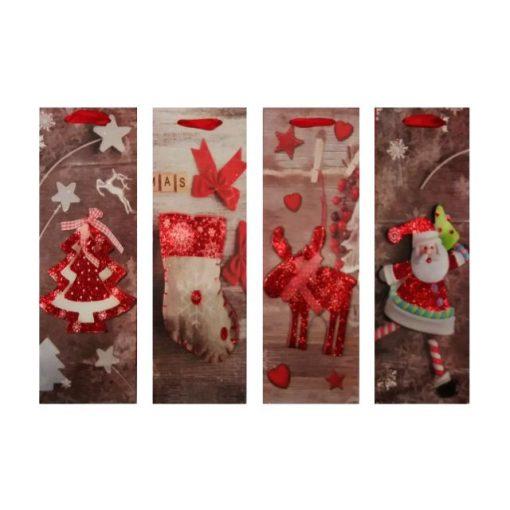 Ajándéktasak karácsonyi 35*11.5*9 figurás