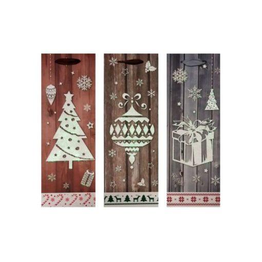 Ajándéktasak karácsonyi 36*12.8*8.4 fa hatású