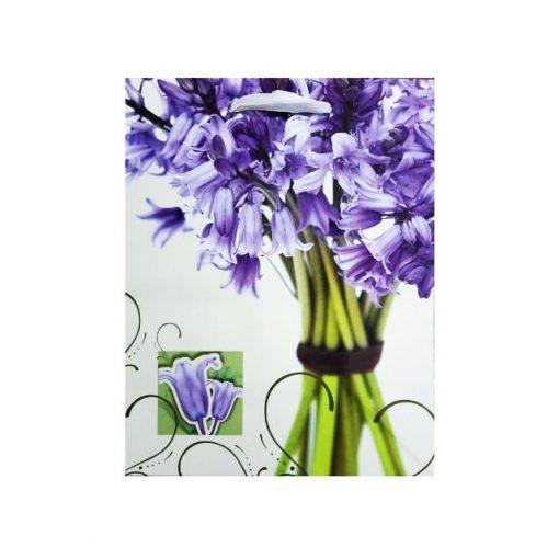 Ajándéktasak 39*30*10 lila jácint