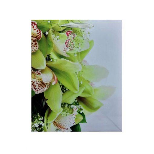Közepes ajándéktasak, zöld virág