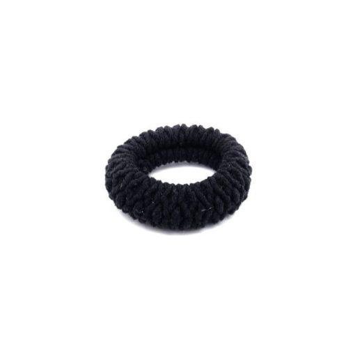 Hajgumi gyűrt fekete