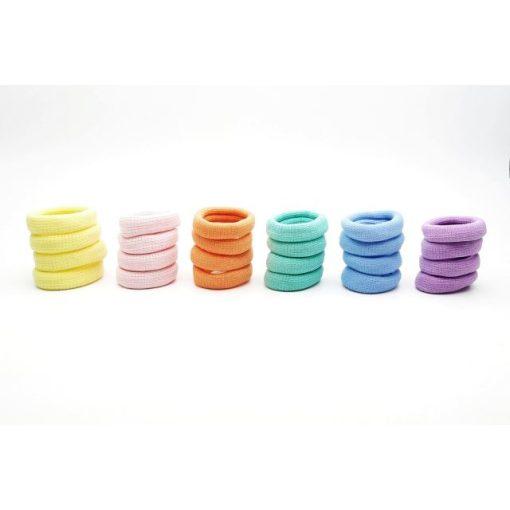 Hajgumi pasztell színekben (4 db)