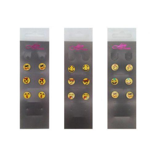 Meglepetés Emojis fülbevaló (3 pár)