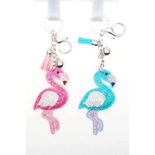 Kulcstartó flamingó