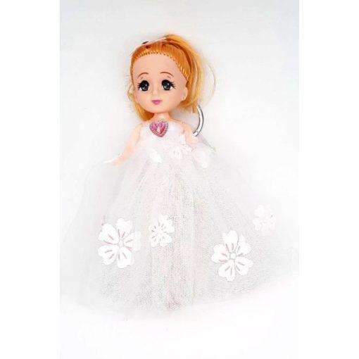 Kulcstartó baba fehér tüll