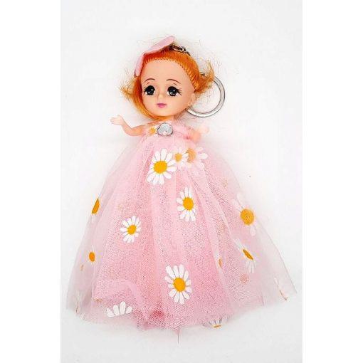 Kulcstartó baba világos rózsaszín tüll