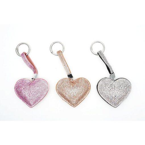 Kulcstartó köves szív