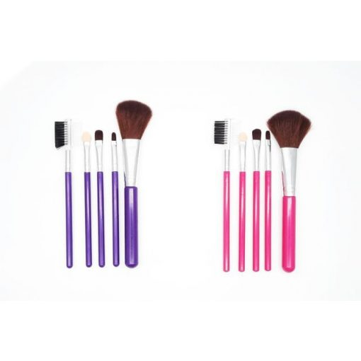 Sminkecset készlet lila / rózsaszín (5 db)