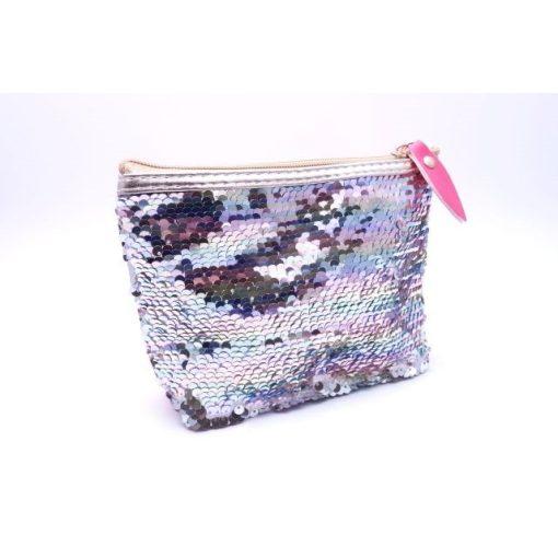 Kozmetikai táska flitteres lila (18 x 13 x 5,5 cm)