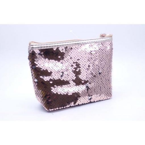 Kozmetikai táska flitteres karamell (18 x 13 x 5,5 cm)