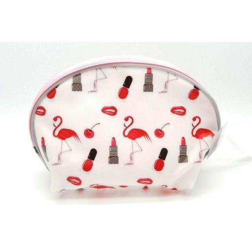 Piros mintás kozmetikai táska