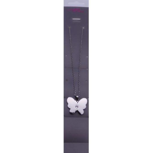 Pillangó medálos nyaklánc Swarovski kristállyal